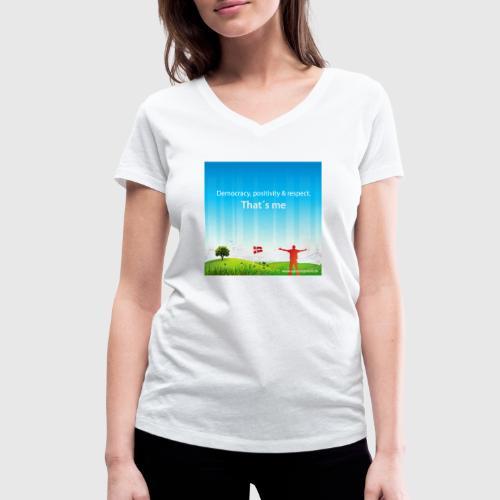Rolling hills tshirt - Økologisk Stanley & Stella T-shirt med V-udskæring til damer