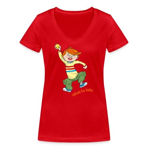 Villads fra Valby - Økologisk Stanley & Stella T-shirt med V-udskæring til damer