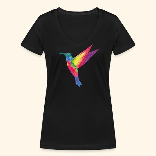 Kolibri - wild und frei - Frauen Bio-T-Shirt mit V-Ausschnitt von Stanley & Stella