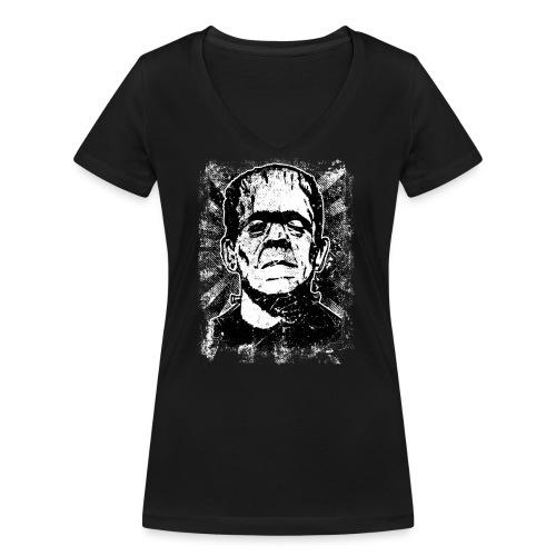 Boris Karloff/Frankenstein vintage sw - Frauen Bio-T-Shirt mit V-Ausschnitt von Stanley & Stella