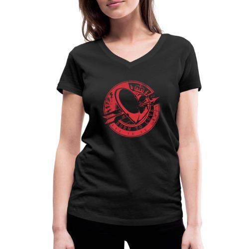 Born to love - Frauen Bio-T-Shirt mit V-Ausschnitt von Stanley & Stella
