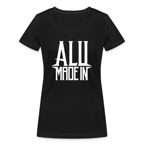 logo_alumadein_vecto_blan - T-shirt bio col V Stanley & Stella Femme