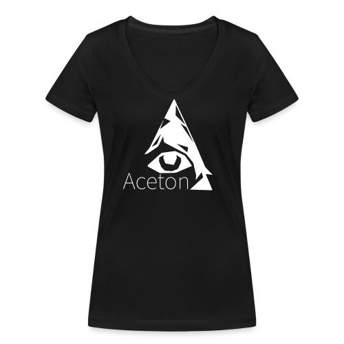 Aceton white png - Frauen Bio-T-Shirt mit V-Ausschnitt von Stanley & Stella