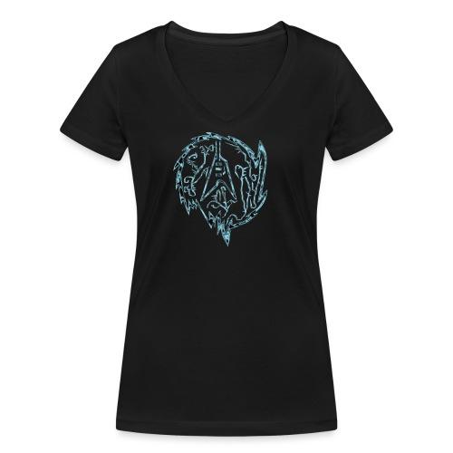Flying-V-Guitar in thorns - Frauen Bio-T-Shirt mit V-Ausschnitt von Stanley & Stella