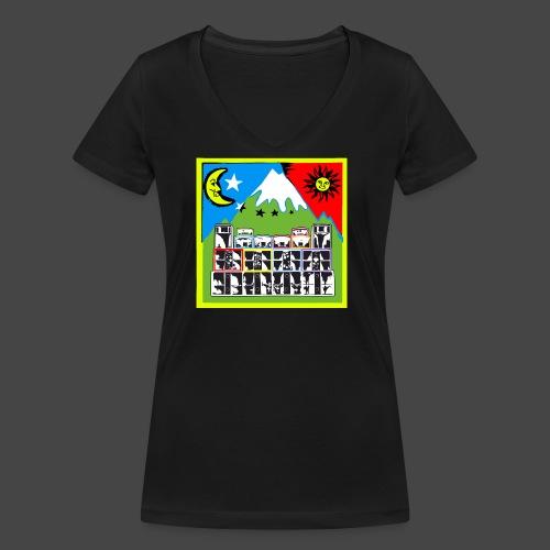 TEKNO SQUAT RESEAU couleur TRIP par TEKNO 23 - T-shirt bio col V Stanley & Stella Femme