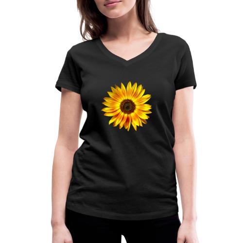 Sonnenblume gelb Sommer - Frauen Bio-T-Shirt mit V-Ausschnitt von Stanley & Stella