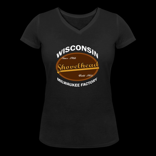 Milwaukee Shovelhead - Frauen Bio-T-Shirt mit V-Ausschnitt von Stanley & Stella