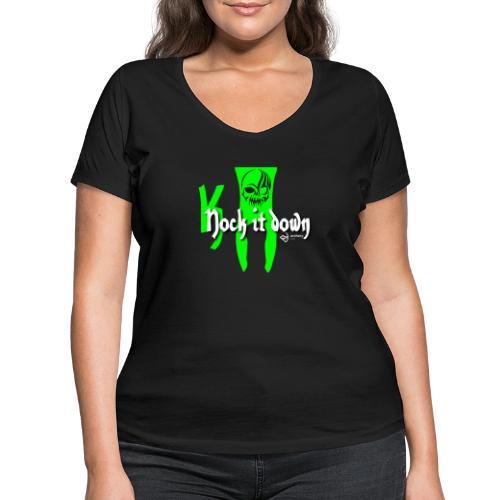 Nock it down - Frauen Bio-T-Shirt mit V-Ausschnitt von Stanley & Stella