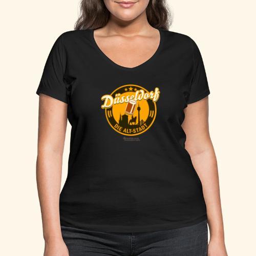 Düsseldorf - Spruch Die Alt-Stadt & Wahrzeichen - Frauen Bio-T-Shirt mit V-Ausschnitt von Stanley & Stella