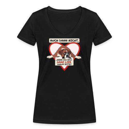 Hundeblick - Frauen Bio-T-Shirt mit V-Ausschnitt von Stanley & Stella