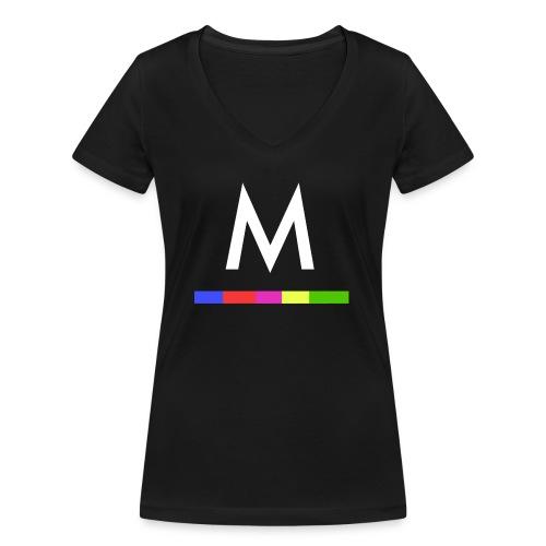 Metro - Camiseta ecológica mujer con cuello de pico de Stanley & Stella