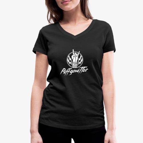 Riffgewitter - Hard Rock und Heavy Metal - Frauen Bio-T-Shirt mit V-Ausschnitt von Stanley & Stella
