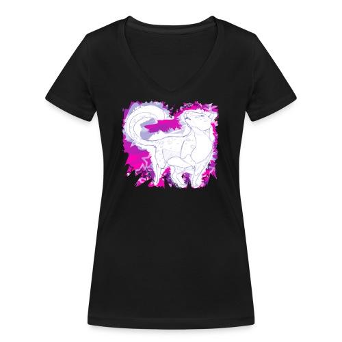 Baumnutria - Frauen Bio-T-Shirt mit V-Ausschnitt von Stanley & Stella