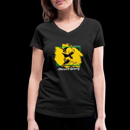 MARCUS GARVEY by Reggae-Clothing.com - Frauen Bio-T-Shirt mit V-Ausschnitt von Stanley & Stella