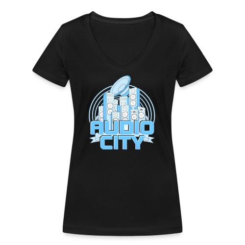 AudioCity - Frauen Bio-T-Shirt mit V-Ausschnitt von Stanley & Stella