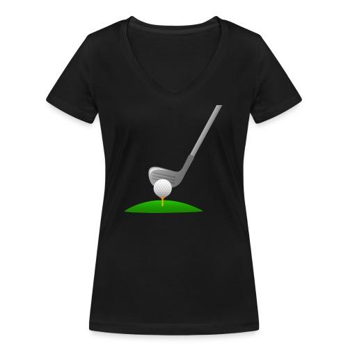 Golf Ball PNG - Camiseta ecológica mujer con cuello de pico de Stanley & Stella