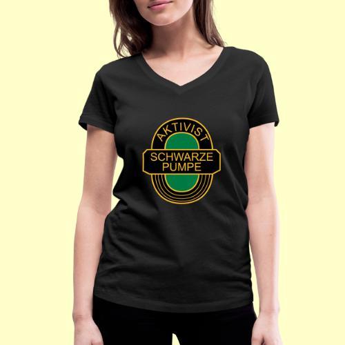 BSG Aktivist Schwarze Pumpe - Frauen Bio-T-Shirt mit V-Ausschnitt von Stanley & Stella