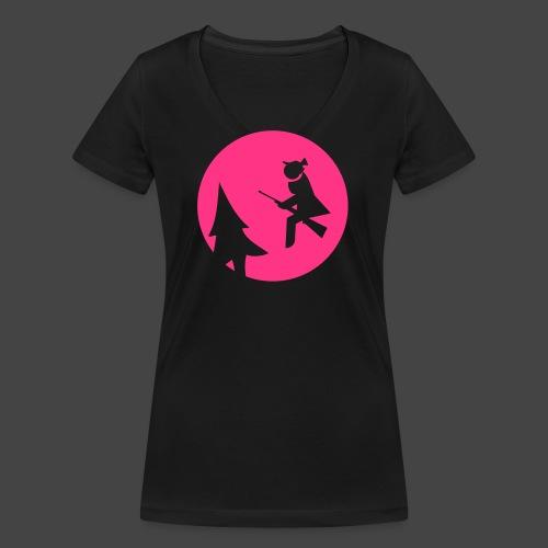 Jagdhexe in der Nachtschicht bei Schweinesonne - Frauen Bio-T-Shirt mit V-Ausschnitt von Stanley & Stella