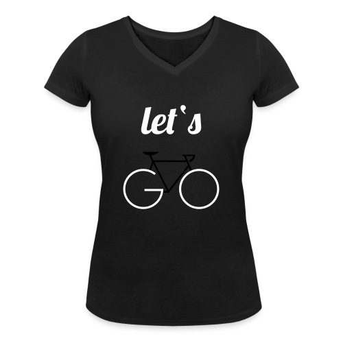 Let's GO - Frauen Bio-T-Shirt mit V-Ausschnitt von Stanley & Stella