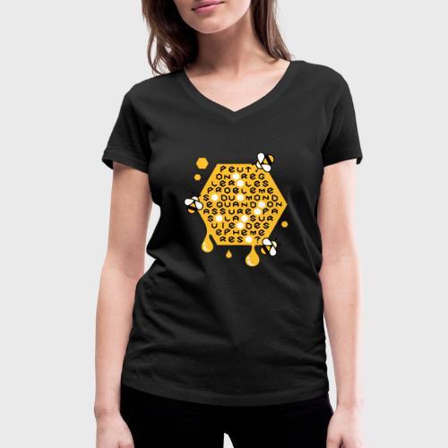 Sauver les abeilles - T-shirt bio col V Stanley & Stella Femme