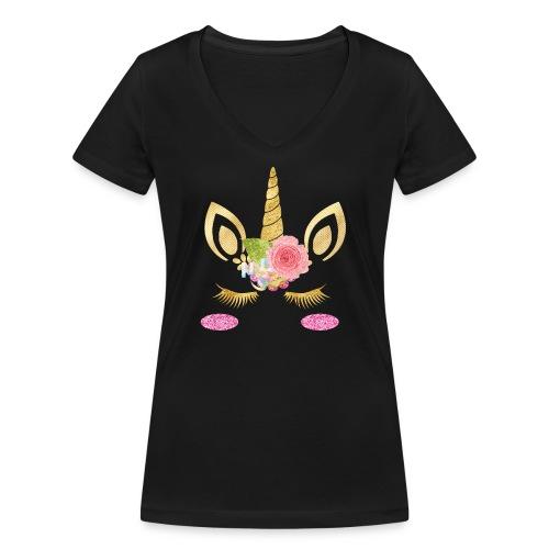unicorn face - Frauen Bio-T-Shirt mit V-Ausschnitt von Stanley & Stella