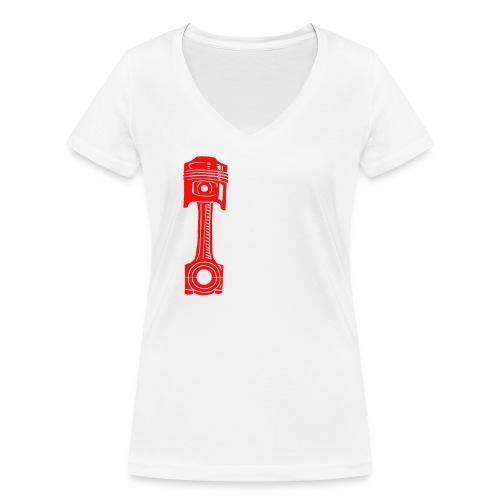Piston - Women's Organic V-Neck T-Shirt by Stanley & Stella
