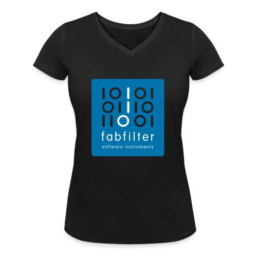 fabfilter logo blue large - Women's Organic V-Neck T-Shirt by Stanley & Stella