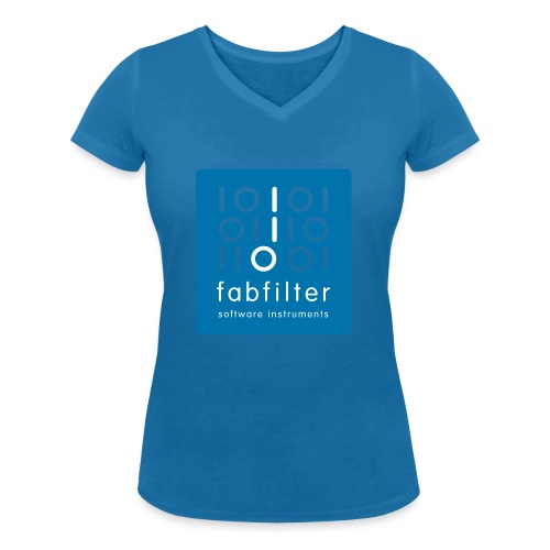 fabfilter logo blue large - Women's Organic V-Neck T-Shirt by Stanley & Stella