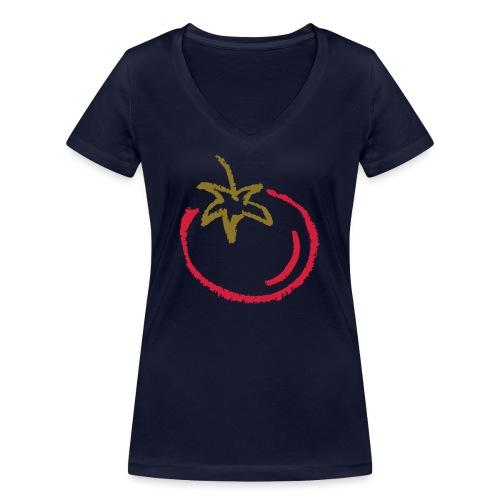 tomato 1000points - Women's Organic V-Neck T-Shirt by Stanley & Stella
