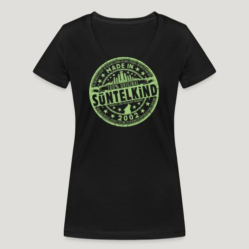 SÜNTELKIND 2002 - Das Süntel Shirt mit Süntelturm - Frauen Bio-T-Shirt mit V-Ausschnitt von Stanley & Stella