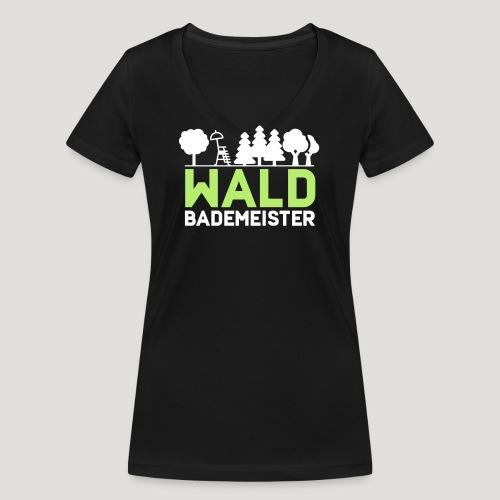 Waldbademeister für das Waldbaden im Waldbad - Frauen Bio-T-Shirt mit V-Ausschnitt von Stanley & Stella