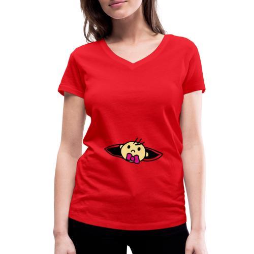 Baby Loading Ich bin Schwanger Design - Frauen Bio-T-Shirt mit V-Ausschnitt von Stanley & Stella