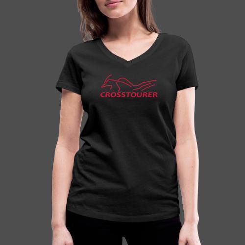 Crosstourer - Ekologiczna koszulka damska z dekoltem w serek Stanley & Stella
