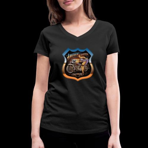 AMERICAN CLASSIC - Frauen Bio-T-Shirt mit V-Ausschnitt von Stanley & Stella