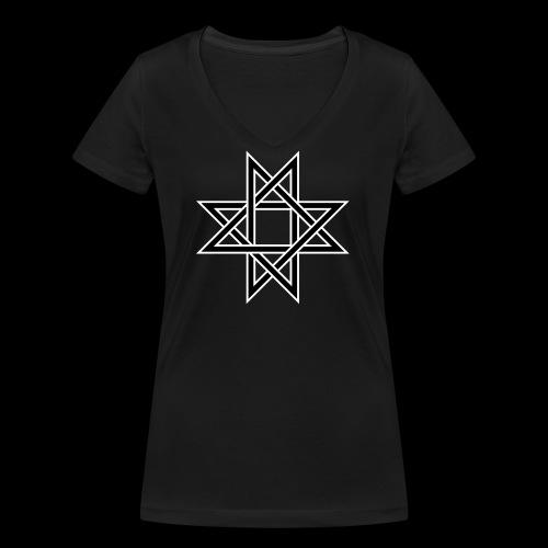 Octagram - Frauen Bio-T-Shirt mit V-Ausschnitt von Stanley & Stella