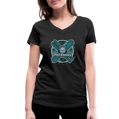 PistenSau Nervenkitzeljägergrün - Frauen Bio-T-Shirt mit V-Ausschnitt von Stanley & Stella