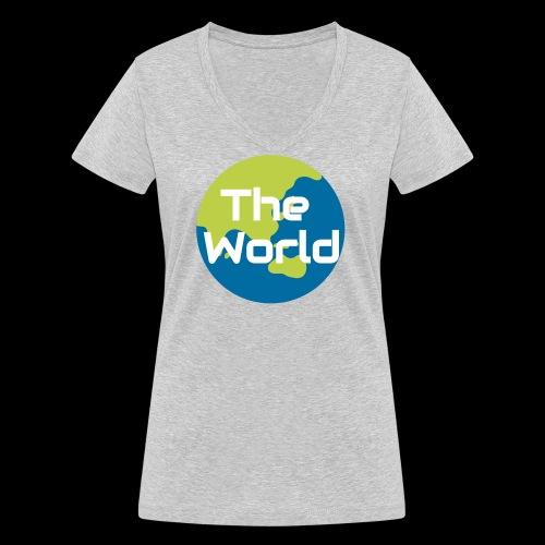 The World Earth - Økologisk Stanley & Stella T-shirt med V-udskæring til damer