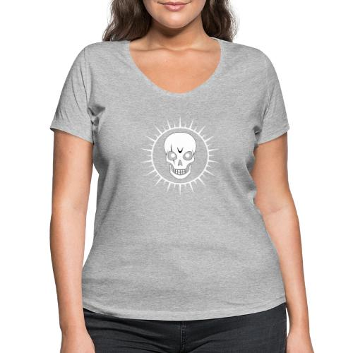 Skull - Women's Organic V-Neck T-Shirt by Stanley & Stella