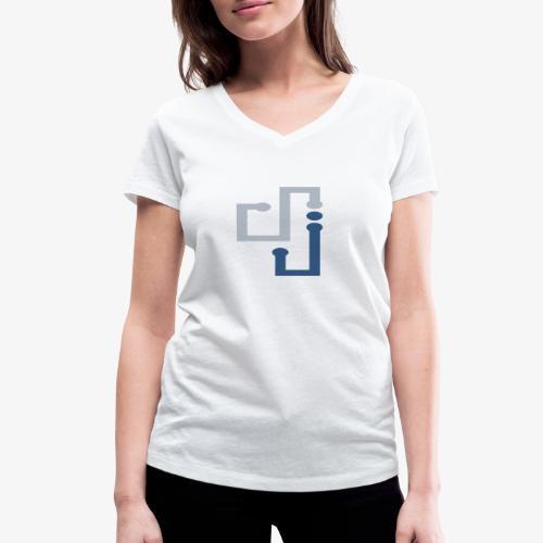 Amo la música DJ - Camiseta ecológica mujer con cuello de pico de Stanley & Stella