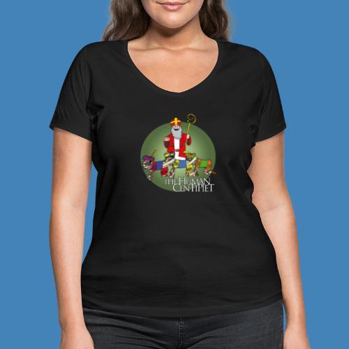 The Human Centipiet - Vrouwen bio T-shirt met V-hals van Stanley & Stella