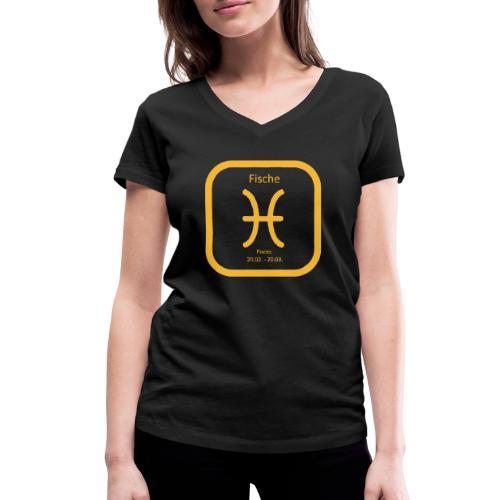 Horoskop fish12 - Ekologiczna koszulka damska z dekoltem w serek Stanley & Stella