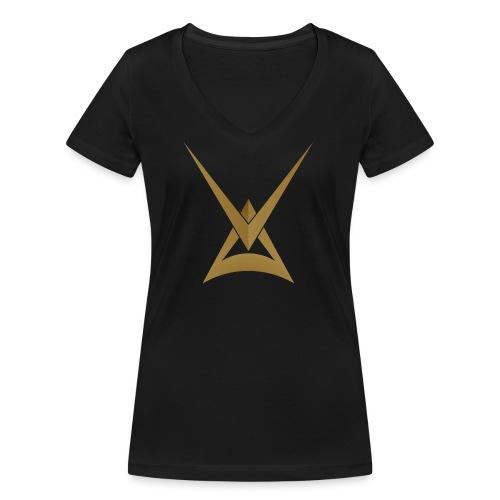 Myytinkertojat V3 - Stanley & Stellan naisten v-aukkoinen luomu-T-paita