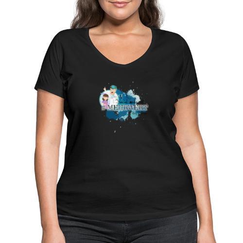 Mehrwert mit Richtig Schwanger - Frauen Bio-T-Shirt mit V-Ausschnitt von Stanley & Stella