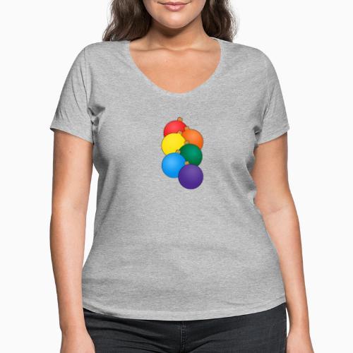 Christmas Pride - Women's Organic V-Neck T-Shirt by Stanley & Stella