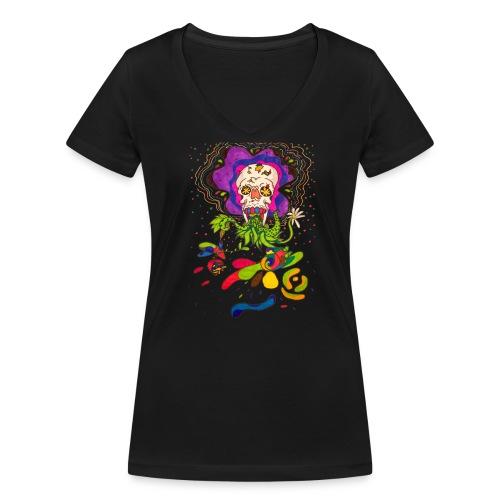 doskalle - Ekologisk T-shirt med V-ringning dam från Stanley & Stella