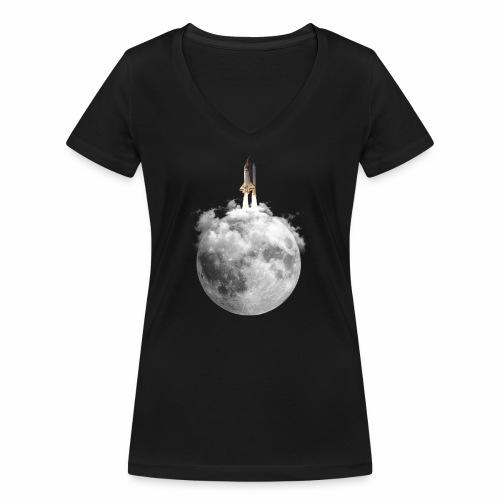 Mondrakete - Frauen Bio-T-Shirt mit V-Ausschnitt von Stanley & Stella