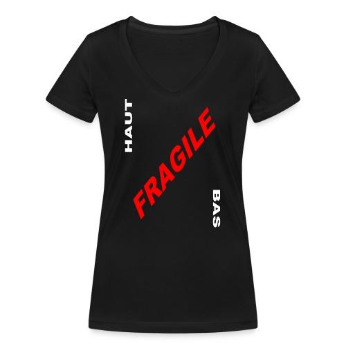 COLIS FRAGILE - T-shirt bio col V Stanley & Stella Femme