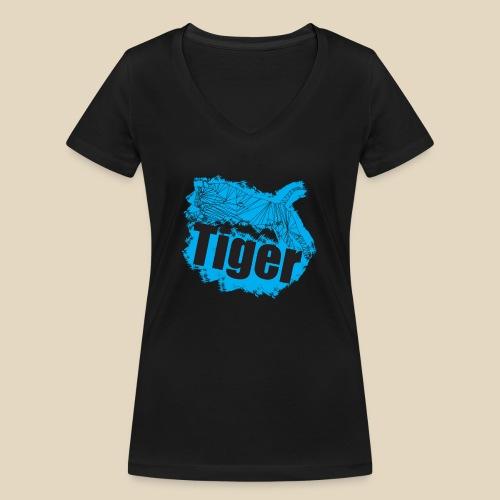 Blue Tiger - T-shirt bio col V Stanley & Stella Femme