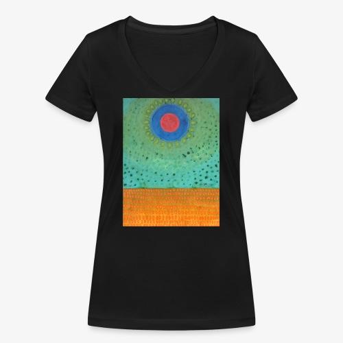 Noc Nad Pustynią - Ekologiczna koszulka damska z dekoltem w serek Stanley & Stella