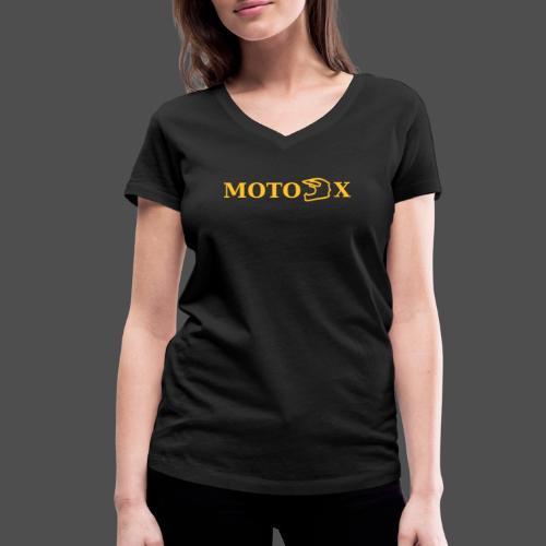 moto x - Ekologiczna koszulka damska z dekoltem w serek Stanley & Stella